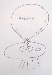 Balloon Flying Saucer Diagram