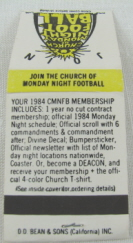 Church of Monday Night Football