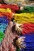 Strings of Beads At Outdoor Market