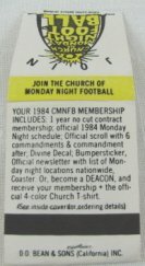 Church of Monday Night Football